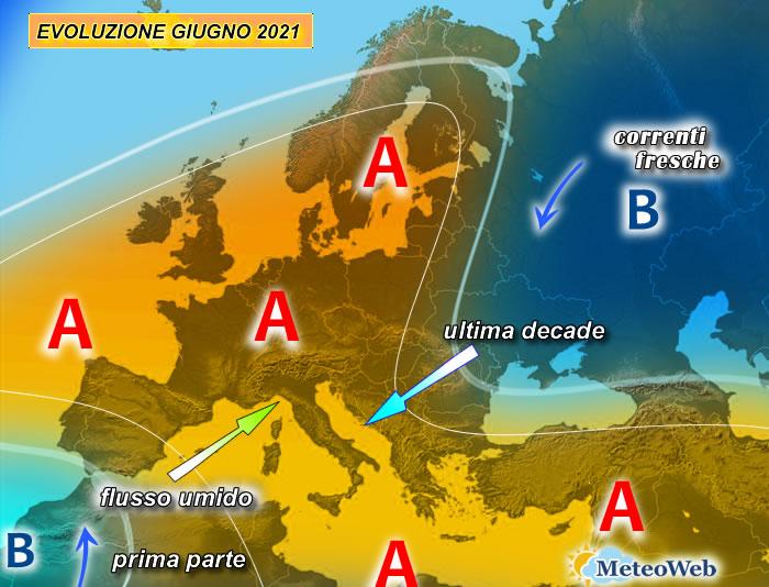 previsioni meteo giugno 2021