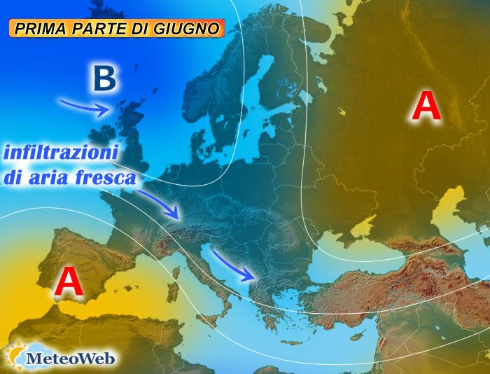 previsioni meteo prima parte di giugno