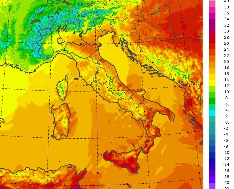 temperature massime italia