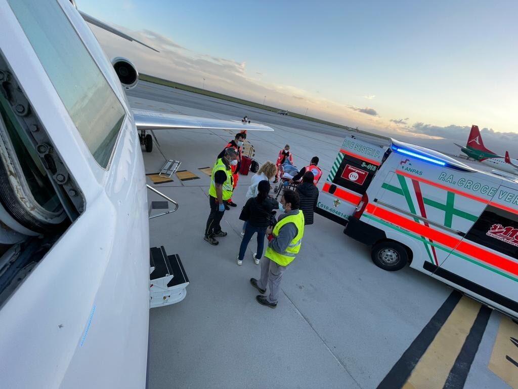 trasporto aeronautica militare alghero genova