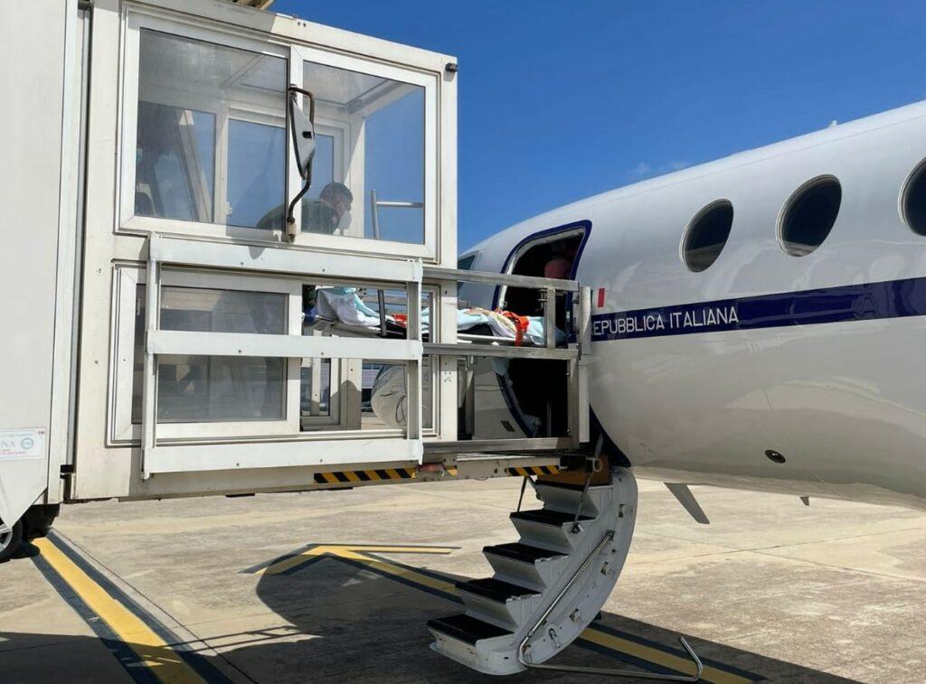 trasporto sanitario aeronautica militare