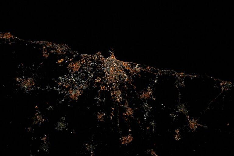 Bari vista dalla ISS. Credit Thomas Pesquet