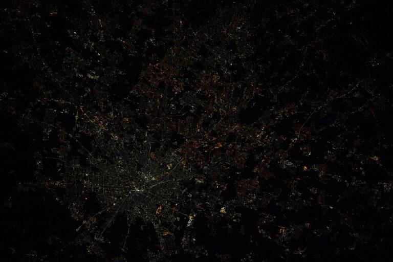 Milano vista dalla ISS. Credit Thomas Pesquet