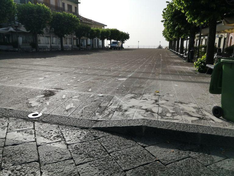 Zafferana Etnea stamattina. Foto di Antonella Infanta