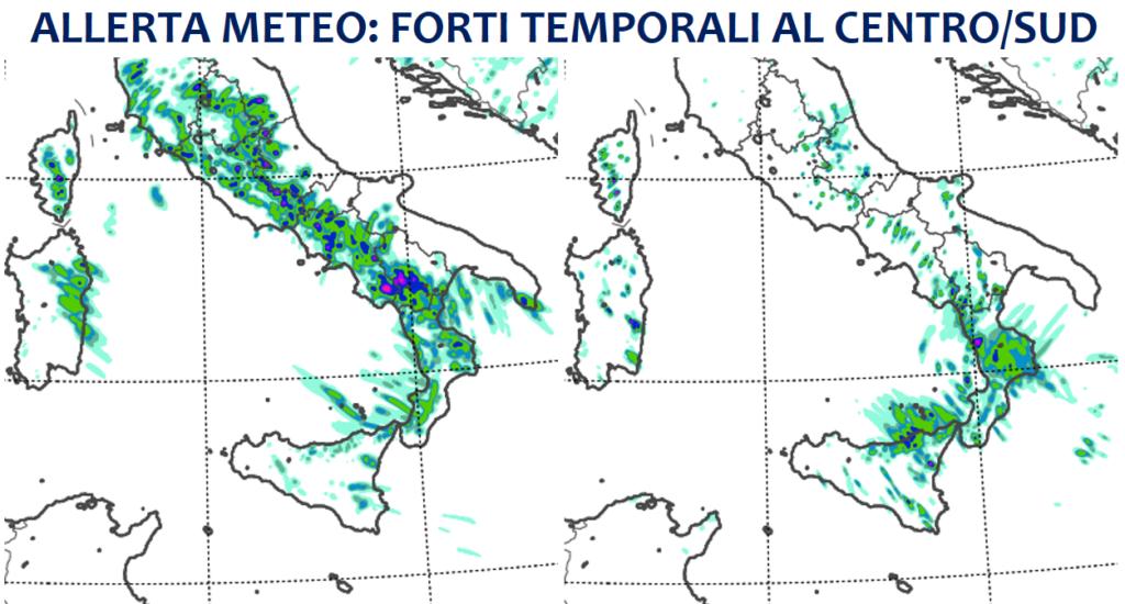 allerta meteo temporali sud italia 8 9 giugno 2021