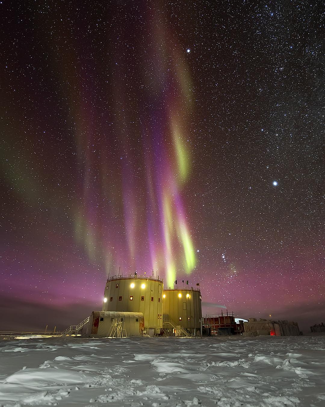 aurora polare stazione concordia antartide