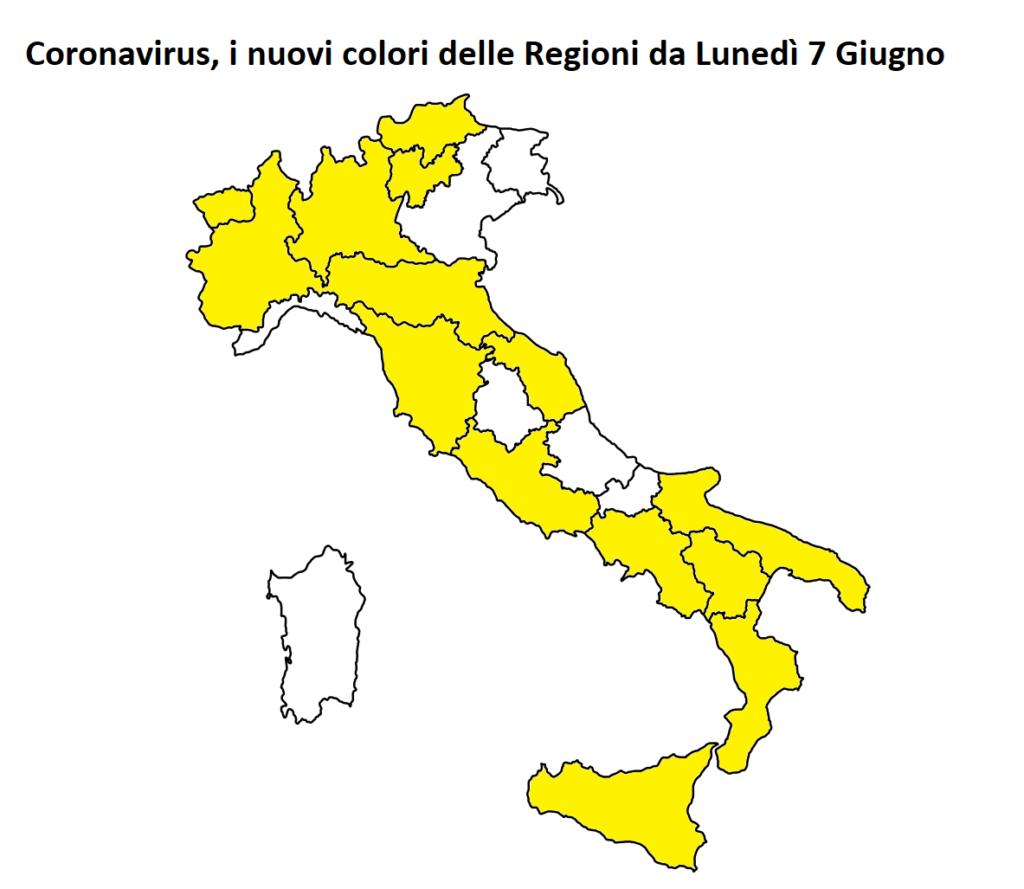 colori regioni 7 giugno