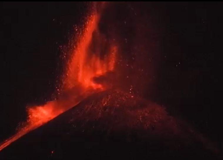eruzione etna 23 giugno 2021