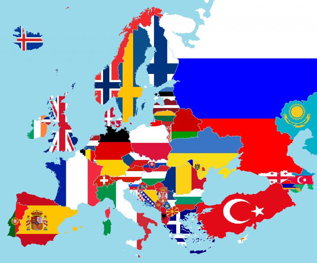 europa bandiere paesi