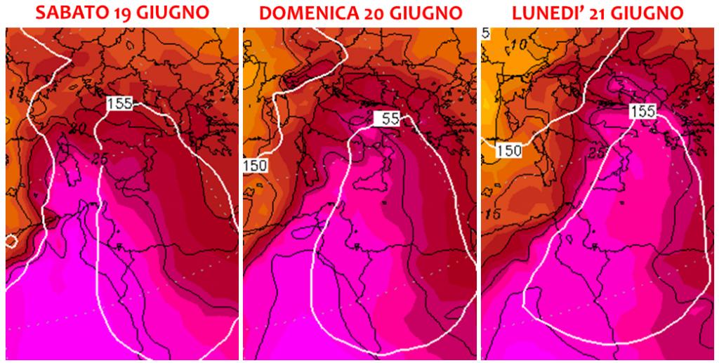 meteo italia caldo giugno 2021