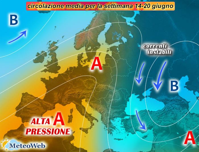 previsioni meteo 14-20 giugno