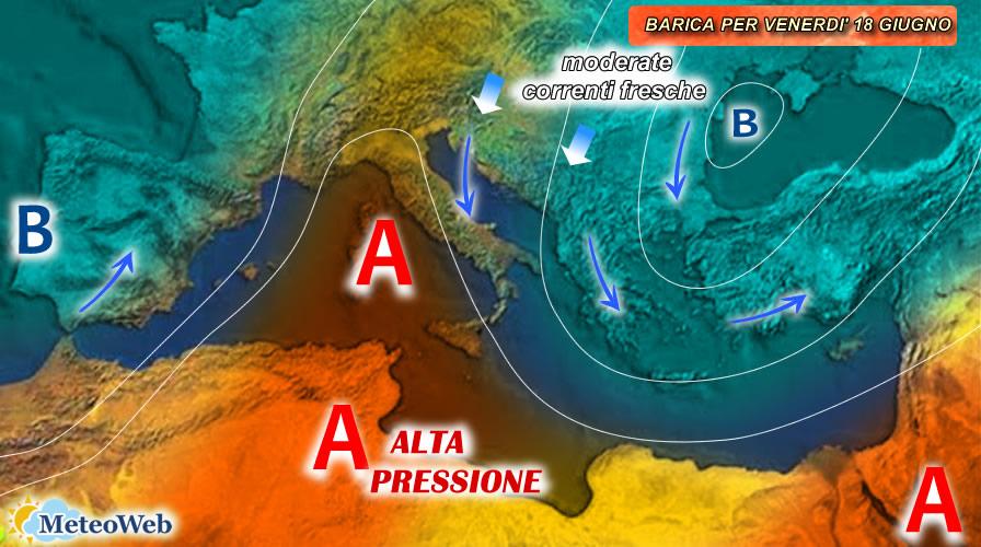 previsioni meteo 18 giugno