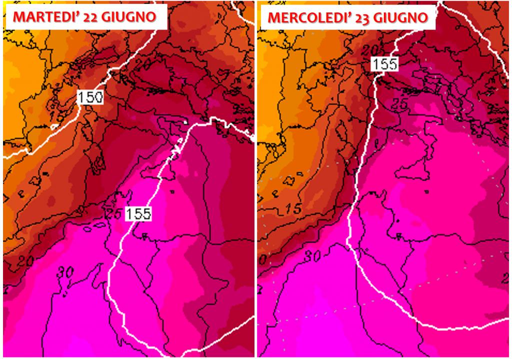 previsioni meteo caldo italia