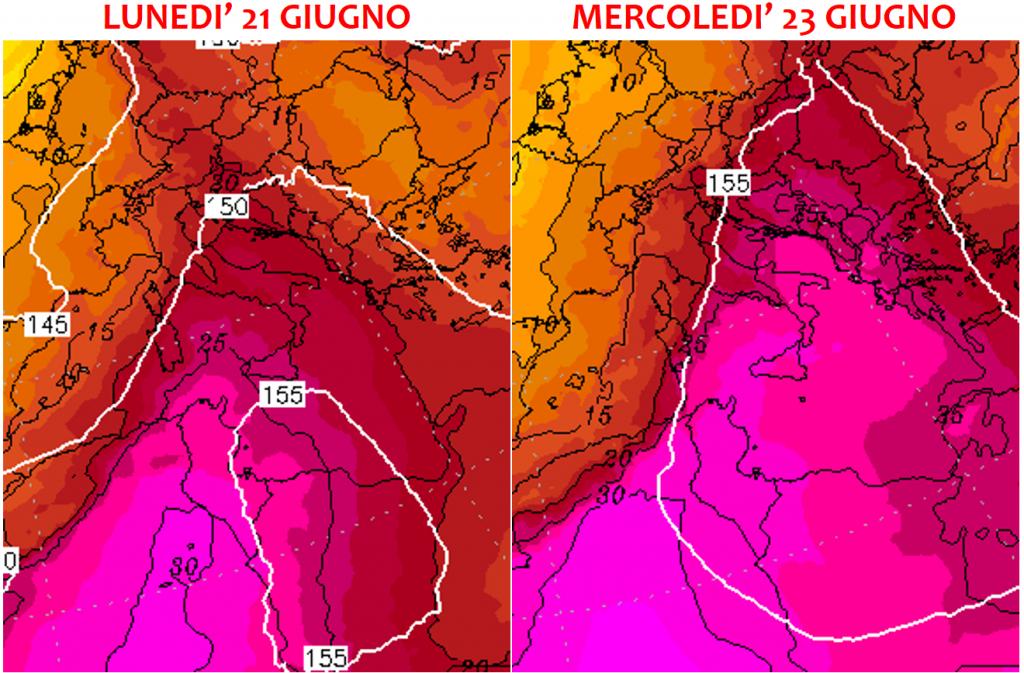 previsioni meteo italia super caldo giugno 2021