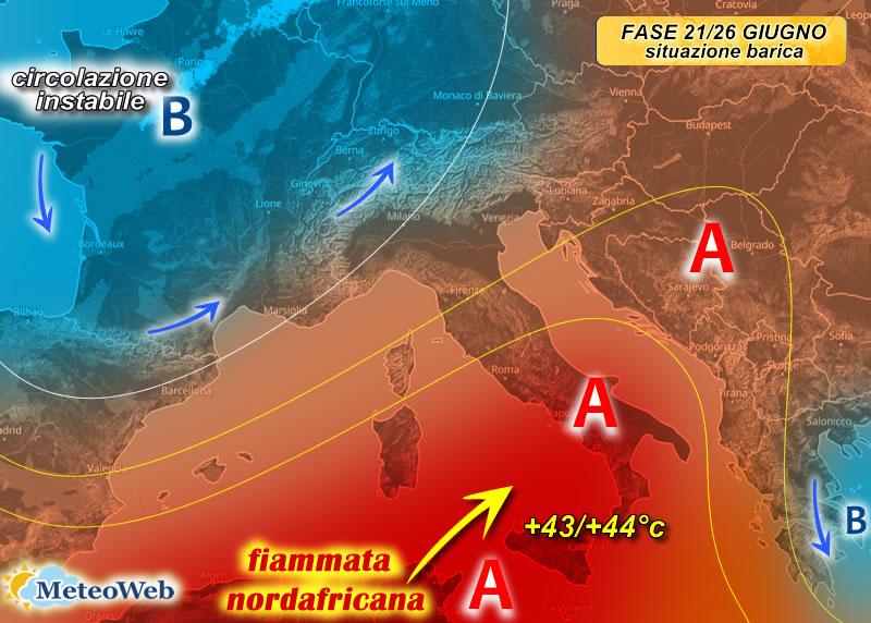 previsioni meteo onda calda prossima settimana