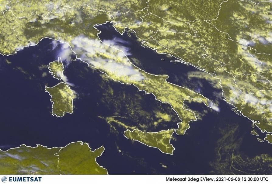 satellite meteo italia 8 giugno 2021