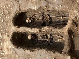 scavi nel giardino della chiesa di San Sisto Pisa