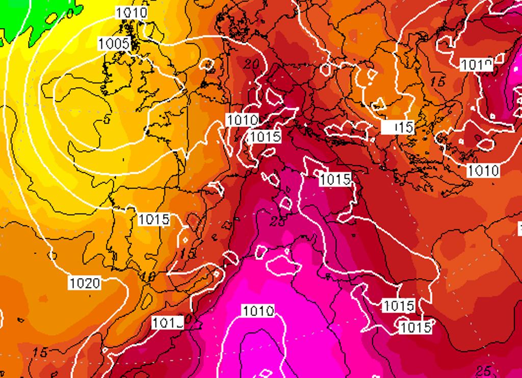 temperature italia domenica 20 giugno 2021