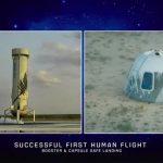 Nuova pietra miliare del turismo spaziale, oggi è il giorno di Blue Origin: lancio perfetto e storico successo di New Shepard, si realizza il sogno di Jeff Bezos [FOTO e VIDEO]