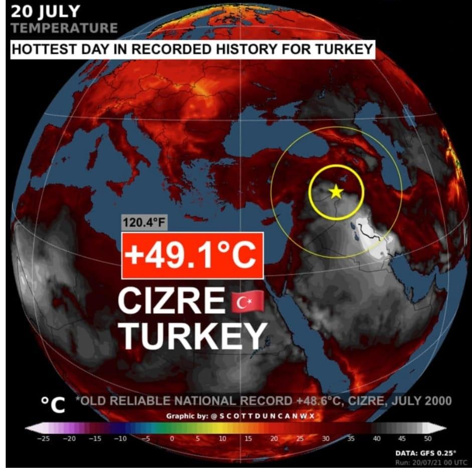 caldo record turchia
