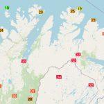Meteo, super ondata di caldo in Scandinavia: temperature record nell'Artico, +34°C in Finlandia e Norvegia [MAPPE]