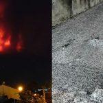 "Etna, maestosa fontana di lava e paurosa nube eruttiva alta 11 km: paesi etnei ""bombardati"" da cenere e pietre vulcaniche [FOTO]"