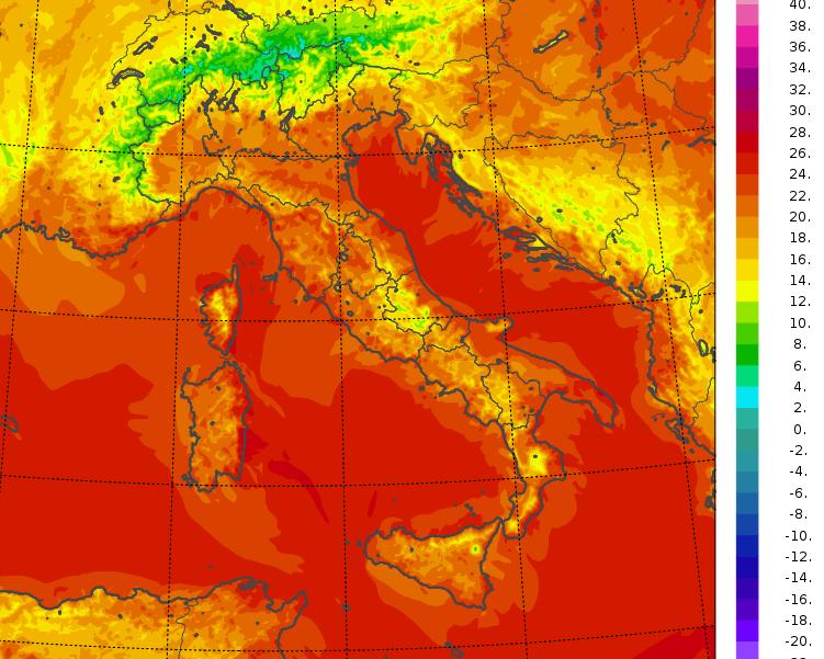 temperature minime italia oggi