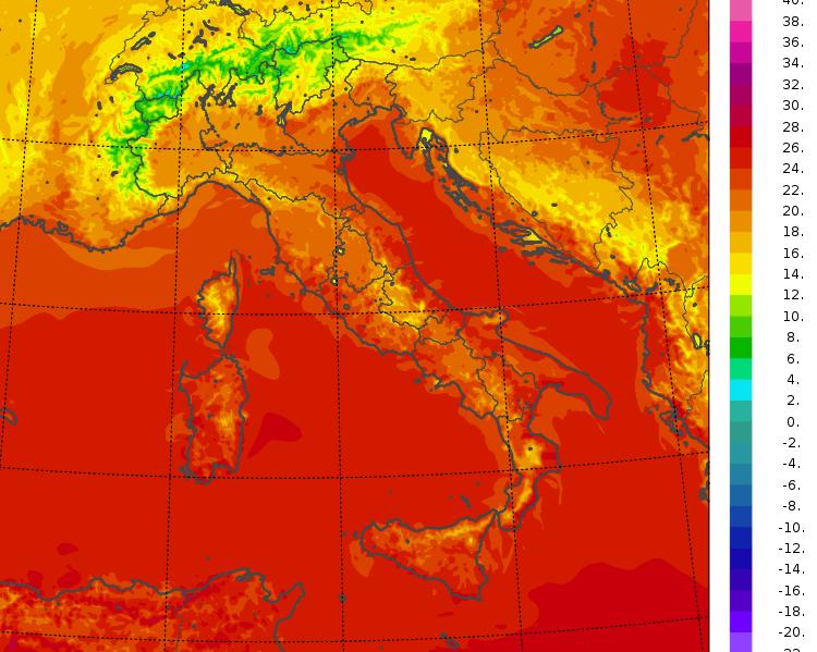 temperature minime oggi italia
