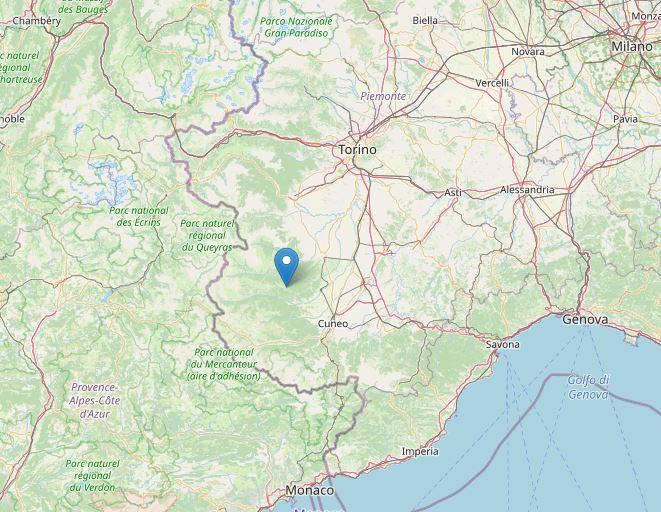 terremoto oggi cuneo