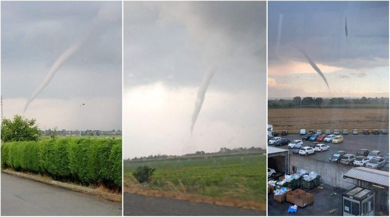 Tornado a Cavallermaggiore (Cuneo)