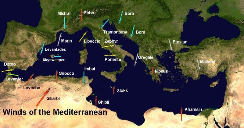 venti mediterraneo