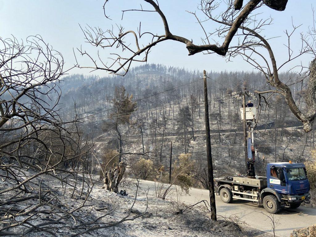 Evia incendi Grecia