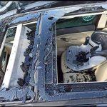 """Maltempo in Friuli, eccezionale grandinata nel Pordenonese: i """"chicchi"""" hanno sfondato vetri delle auto e distrutto le coltivazioni [FOTO]"""