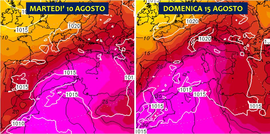 meteo agosto 2021 caldo record