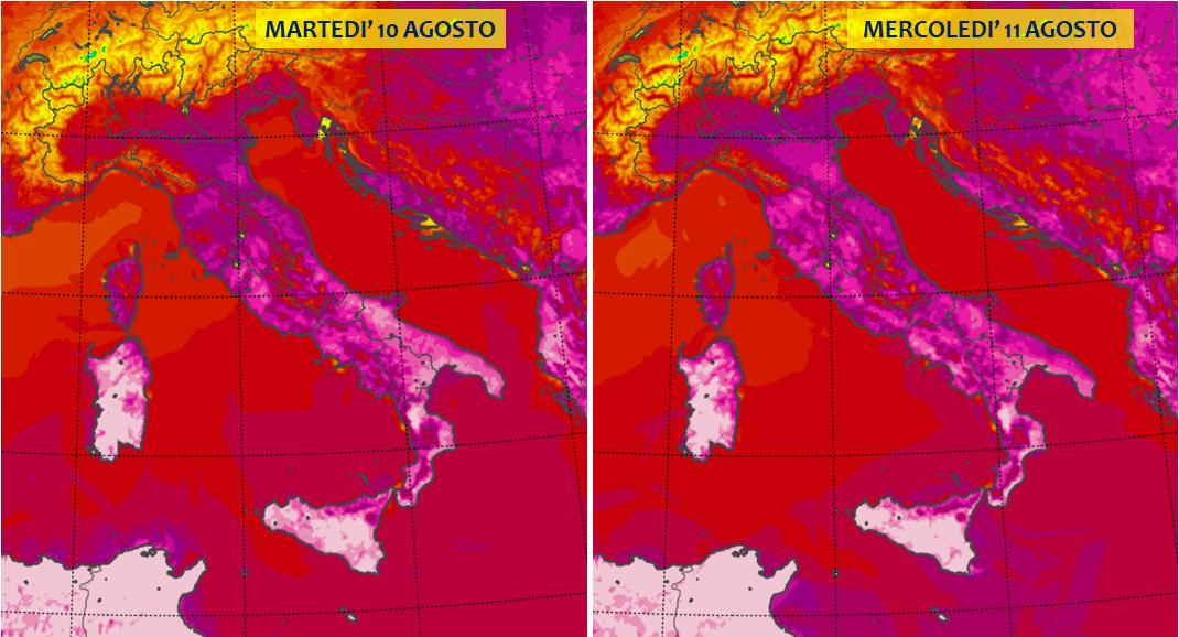 previsioni meteo 10 11 agosto 2021