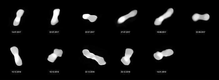 L'asteroide Kleopatra da diverse angolazioni (con note)