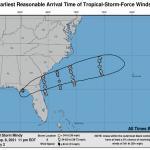 La tempesta tropicale Mindy investe la Florida, rischio inondazioni e tornado [MAPPE]