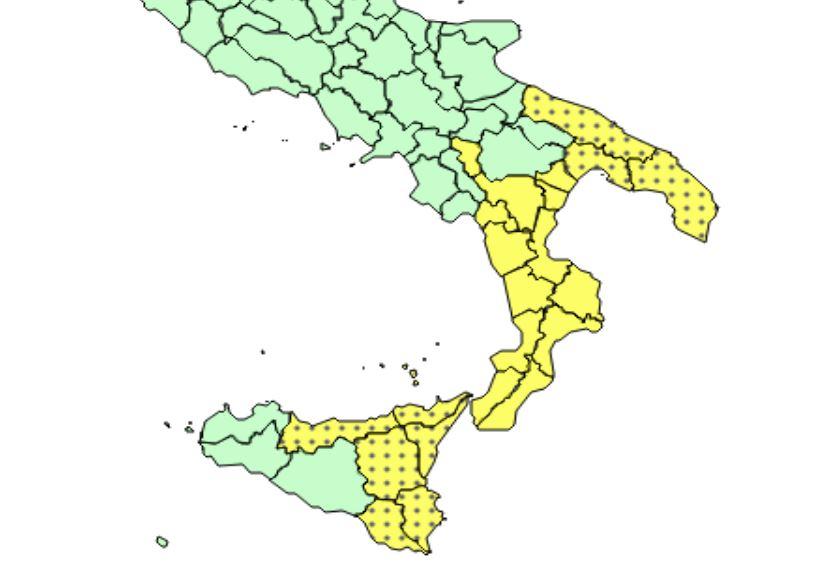 allerta meteo calabria sicilia basilicata puglia