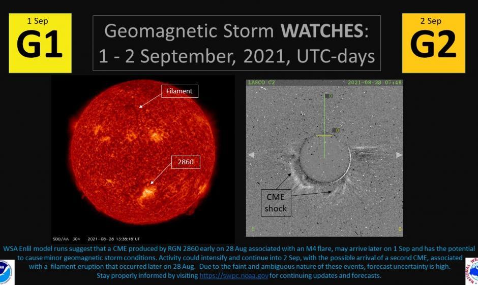 allerta tempesta geomagnetica