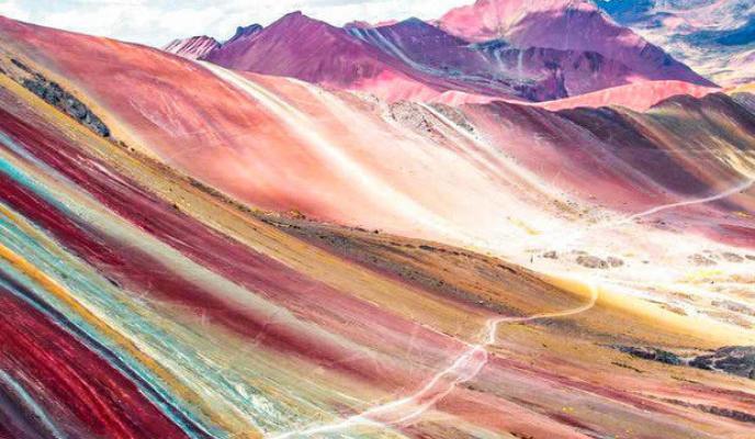 montagna arcobaleno valle rossa