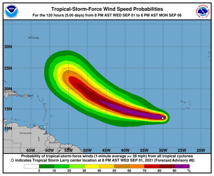 uragano larry