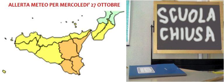 allerta meteo mercoledì 27 ottobre scuole chiuse