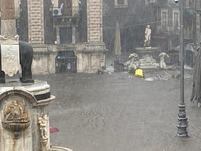 maltempo nubifragio a Catania