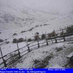 Maltempo, freddo in Abruzzo: neve fino a 1.400 metri, -5,2°C al Rifugio Franchetti – FOTO