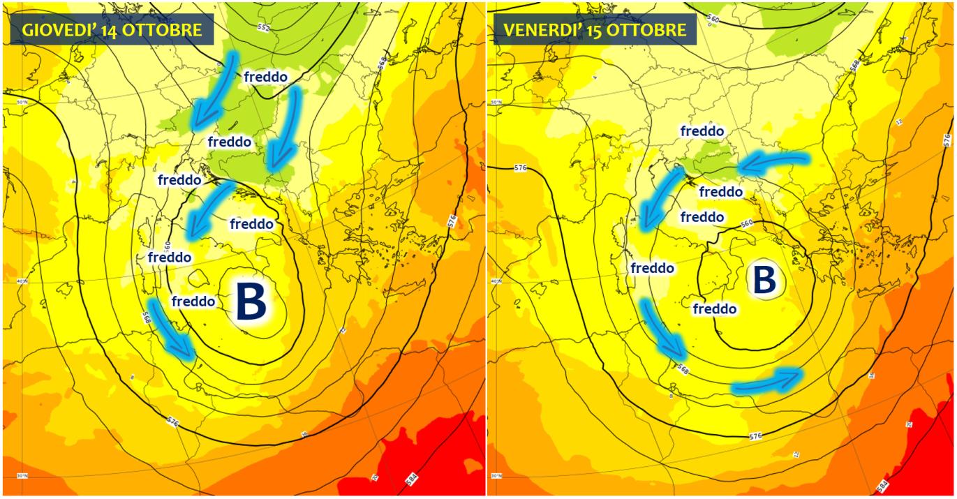 previsioni meteo 14 15 ottobre 2021