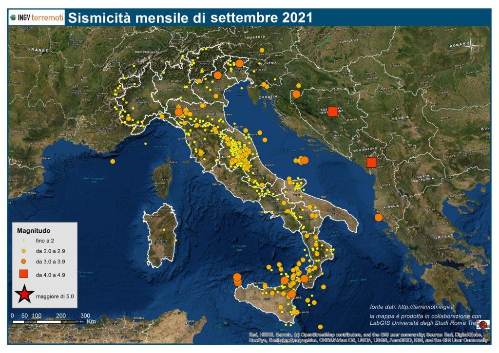 sismicità settembre
