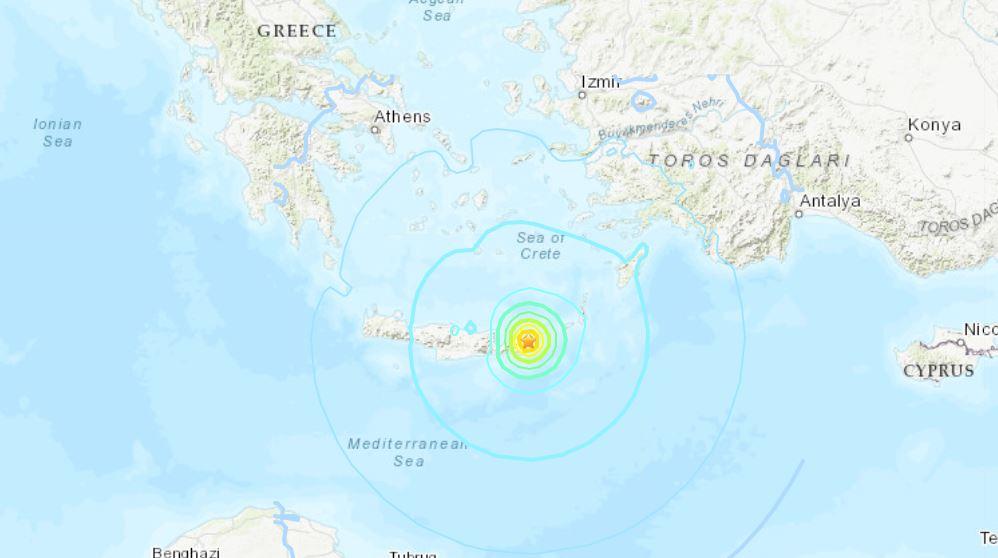 terremoto grecia creta oggi