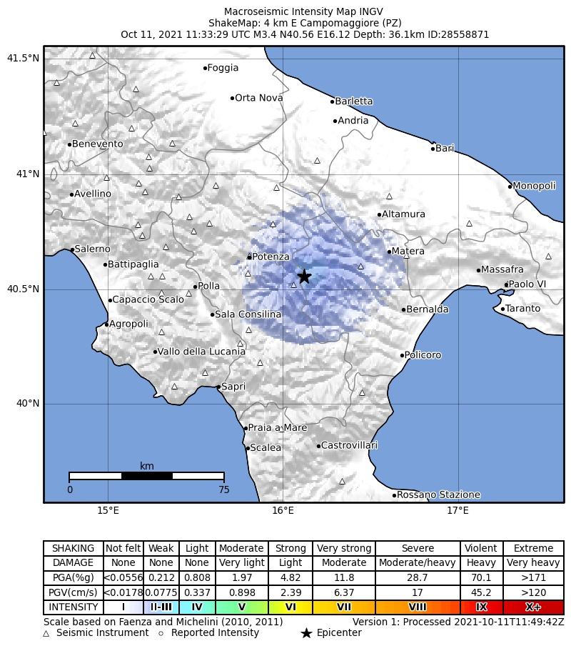 terremoto oggi basilicata puglia